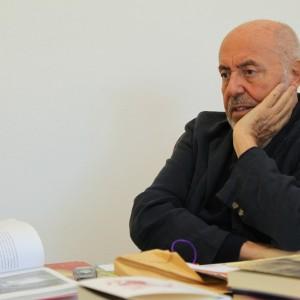 Elio Fiorucci durante l'intervista, fotografato da kristinagi